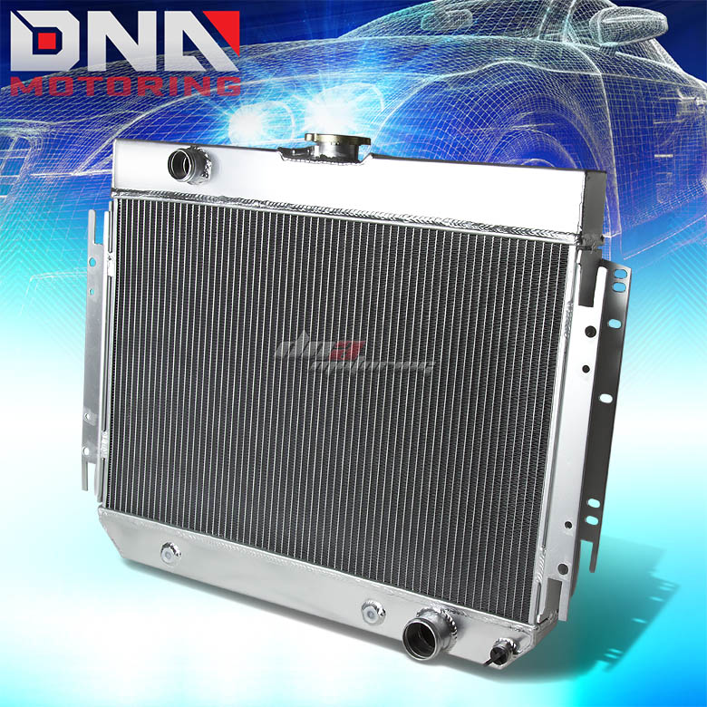 FOR 64-67 CHEVY CHEVELLE//EL CAMINO I6//V8 MT TWO ROW//CORE FULL ALUMINUM RADIATOR